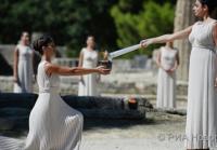 Церемония зажжения Огня в Греции