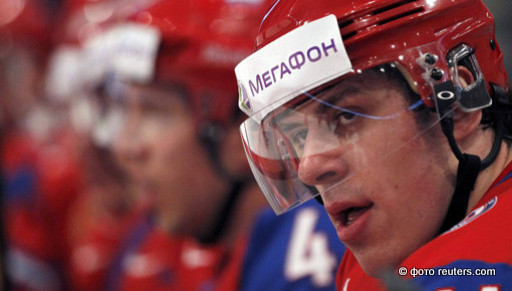 Евгений Малкин в полуфинале чемпионата мира по хоккею 2012