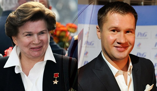 Почетные факелоносцы Сочи-2014 — Валентина Терешкова и Алексей Немов