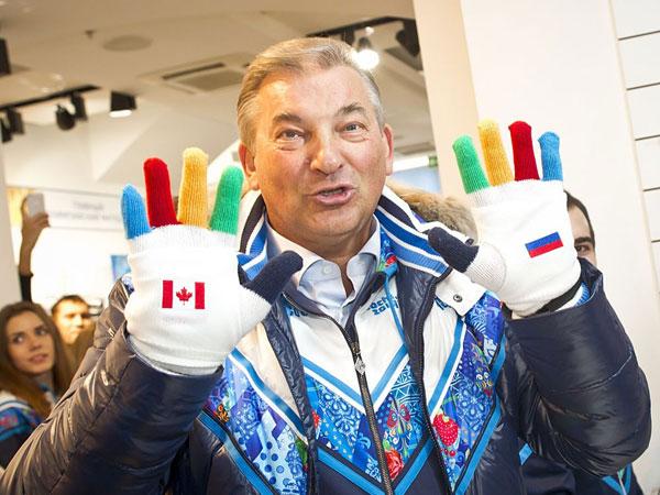 Владислав Третьяк в перчатках-«митенках» БОСКО Сочи-2014